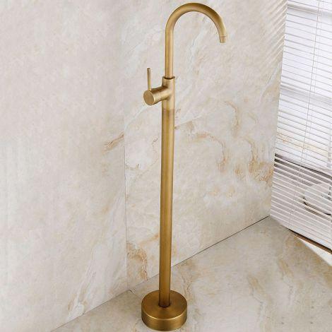 Duscharmatur Bodenstehend Antik Messing Einhand für Bad